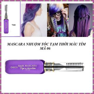 Mascara nhuộm tóc tạm thời OHICO 10ml màu tím - MS 06 - Mascara tim thumbnail