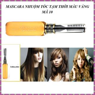 Mascara nhuộm tóc tạm thời OHICO 10ml chai màu vàng - MS 10 - Mascara mauvang thumbnail