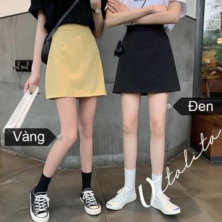 Quần giả váy chữ A có 2 túi chéo - mặt trước váy mặt sau quần màu Đen Vàng - QGV_CA thumbnail