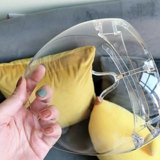 Kính chống giọt bắn phòng dịch bảo hộ Full Face trong suốt - Mặt nạ chống giọt dầu văng bắn chống bụi gió - 1kinh 2