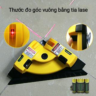 Thước eke ke góc vuông Laser máy đo góc vuông 90 độ bằng tia Laser đa năng - thước eke thumbnail