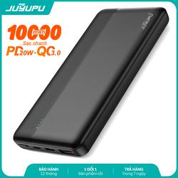 Sạc dự phòng JUYUPU PQ1C sạc nhanh cao cấp 10000mAh PD QC3.0 20W chính hãng dành cho iPhone Samsung OPPO VIVO HUAWEI XIAOMI pin sạc dự phòng