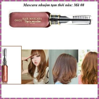 Mascara nhuộm tóc tạm thời OHICO màu nâu 10ml chai - MS08 - Mascara nau thumbnail