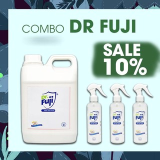 COMBO SALE - Dr-Fuji - Nước rửa tay - Nước diệt khuẩn - Can 2L + 3 chai 300ml - aw26 thumbnail