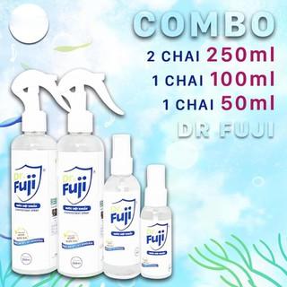 Dr Fuji - Combo 4 chai Nước diệt khuẩn - 2 Chai xịt khuẩn 300ml + 1 chai 100ml + 1 chai 50ml - aw23 thumbnail