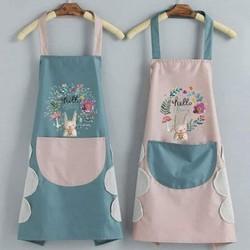 Tạp dề hoa thỏ siêu cute dễ thương cho chị em nội trợ, tiệm nail nails nhà hàng quán ăn – TDT
