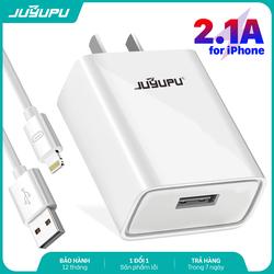 Củ sạc JUYUPU A8 cao cấp 2.1A bộ sạc chính hãng kèm dây sạc iPhone Micro Type C dành cho Samsung OPPO VIVO HUAWEI XIAOMI cục sạc