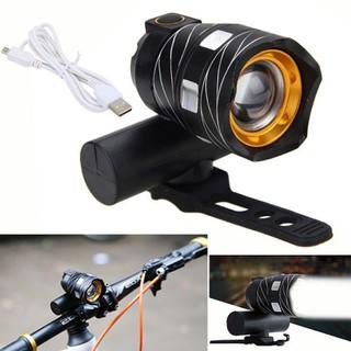 Đèn pha xe đạp siêu sáng - Đèn pha xe đạp siêu sáng TRÒN USB thumbnail