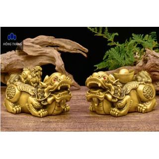 Tượng linh vật đôi tỳ hưu đại bằng đồng thau phong thủy Hồng Thắng - 6522_46396598 thumbnail