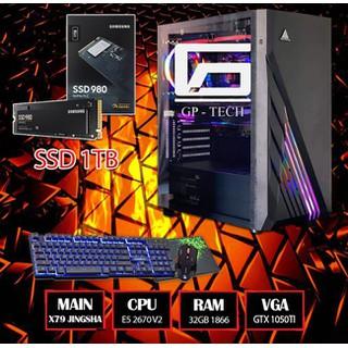MÁY E5 2670 V2 RAM 32GB SSD 1TB GTX 1050Ti Full Game - Đồ họa - X79 + E5 2670 V2 + 32GB + 1050Ti thumbnail