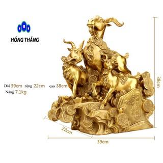 Tượng linh vật phong thủy Tam Dương 3 con dê bằng đồng dê tam thế Tam dương Khai Thái bằng đồng thau Hồng Thắng - tamduondai thumbnail