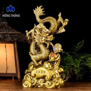 Tượng linh vật con rồng long trầu ngọc bằng đồng thau phong thủy Hồng Thắng - 6520_46395960 thumbnail