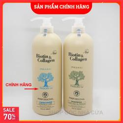 [ HÀNG CHÍNH HÃNG] Cặp dầu gội xả Biotin collagen (Dung tích mỗi chai 1000 ml) đủ màu