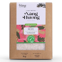 Gạo Hữu Cơ - TRẮNG Nàng Hương 1kg - Nàng MEKONG - 100% Organic