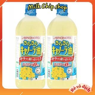 Dầu ăn hoa cải dầu hạt cải Ajnomoto Nhật Bản chai 1 lít NA06 - NA06 thumbnail