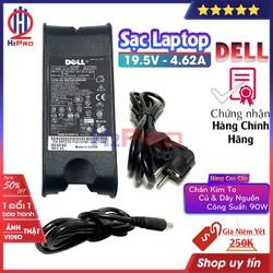 Sạc Laptop Dell 19.5V 4.62A Chân Kim To hàng hãng E6420 E6520 3442 3443 3543 (củ và dây nguồn), Cục sạc laptop DELL 19.5V 4.62A (90w) cao cấp