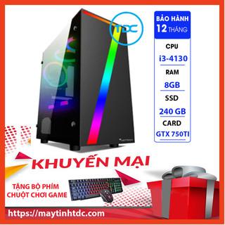 Case Máy Tính Chơi Game Máy Tính Chơi Game MAX PC GAMING X7 CPU Core i3 4130 Ram 8GB SSD 240GB GTX 750TI Chơi PUBG,LOL, CF, Fifa4, Đế chế ...+ Tặng Ngay Bàn Phím Giả Cơ,Chuột Led 7 Màu - X7.750TI.4130.8.240 thumbnail