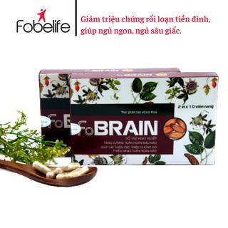 FOBRAIN- Hỗ trợ giảm triệu chứng rối loạn tiền đình, mất ngủ, đau đầu- Hộp 20 viên. - TPRA0001 thumbnail