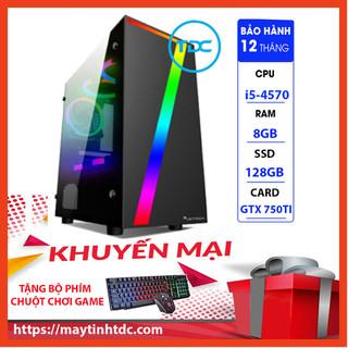 Case Máy Tính Chơi Game Máy Tính Chơi Game MAX PC GAMING X7 CPU Core i5 4570 Ram 8GB SSD 128GB GTX 750TI Chơi PUBG,LOL, CF, Fifa4, Đế chế ...+ Tặng Ngay Bàn Phím Giả Cơ,Chuột Led 7 Màu - X7.750TI.4570.8.128 thumbnail