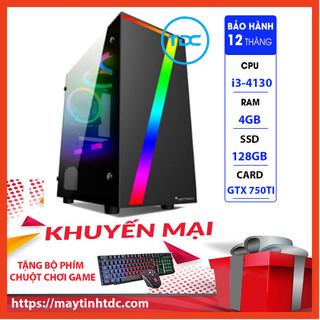 Case Máy Tính Chơi Game Máy Tính Chơi Game MAX PC GAMING X7 CPU Core i3 4130 Ram 4GB SSD 128GB GTX 750TI Chơi PUBG,LOL, CF, Fifa4, Đế chế ...+ Tặng Ngay Bàn Phím Giả Cơ,Chuột Led 7 Màu - X7.750TI.4130.4.128 thumbnail