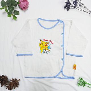 Áo Dài Tay Cài Nút Xéo Chất Vải 100% cotton Mềm Mịn Cho Bé Sơ Sinh CADT_Màu ngẫu nhiên_SUNBABY - CADT thumbnail