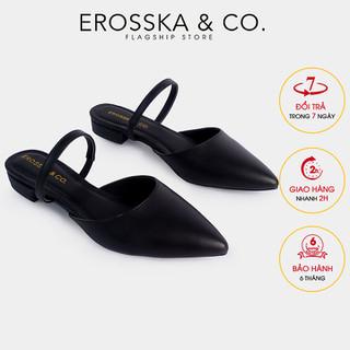 Erosska - Giày mũi nhọn đế bệt thời trang 1,5cm màu đen - EL019 - EL019BA thumbnail