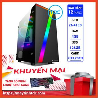 Case Máy Tính Chơi Game Máy Tính Chơi Game MAX PC GAMING X7 CPU Core i3 4150 Ram 4GB SSD 128GB GTX 750TI Chơi PUBG,LOL, CF, Fifa4, Đế chế ...+ Tặng Ngay Bàn Phím Giả Cơ,Chuột Led 7 Màu - X7.750TI.4150.4.128 thumbnail