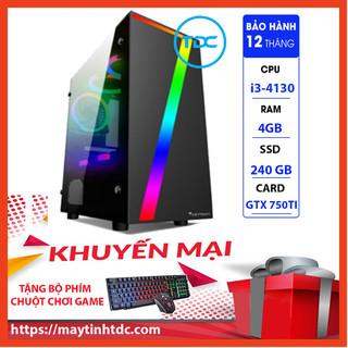 Case Máy Tính Chơi Game Máy Tính Chơi Game MAX PC GAMING X7 CPU Core i3 4130 Ram 4GB SSD 240GB GTX 750TI Chơi PUBG,LOL, CF, Fifa4, Đế chế ...+ Tặng Ngay Bàn Phím Giả Cơ,Chuột Led 7 Màu - X7.750TI.4130.4.240 thumbnail