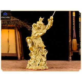Tượng linh vật con khỉ Tề Thiên Đại Thánh tôn ngộ không bằng đồng thau phong thủy Hồng Thắng - 6520_46675536 thumbnail