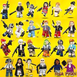 Combo 1 Nhân vật Game PUBG Cực Đẹp Và 1 Vĩ Trang Bị Cực Khủng Đồ Chơi Xếp Hình Lắp Ráp Non-Lego MOC