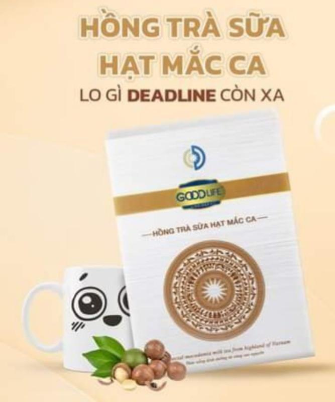 Hình ảnh TRÀ SỮA GOODLIFE 12 gói/ hộp 240G - 2 vị Matcha + Macca - Date 10/2021