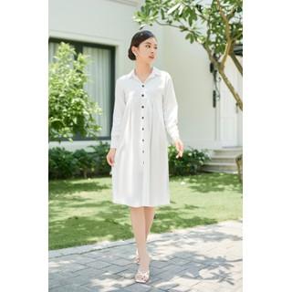 Đầm Sơ Mi Nữ LEOS WEARING Đầm Đẹp Linen Bột Cổ Chữ V Premium - A84 - A84 thumbnail
