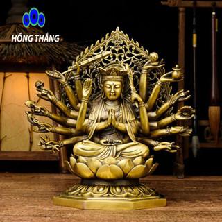 Tượng phật chuẩn đề bồ tát bằng đồng thau đồ thờ phong thủy Hồng Thắng - 6517_46675113 thumbnail