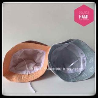 Mũ Nón unisex cho bé phong cách Hàn Quốc thời trang vải thoáng mát - NON01 3