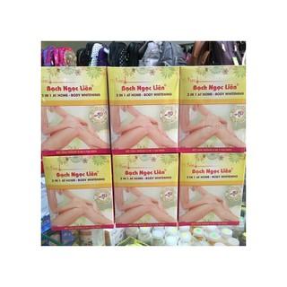 Tắm trắng Bạch Ngọc Liên Hộp 2 Chai Bột Dung Dịch Tắm Trắng Toàn Thân - 3299_46710114 thumbnail