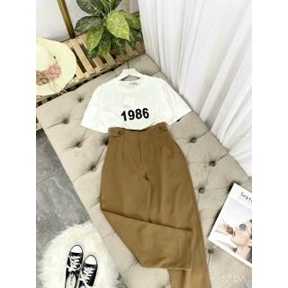 Áo thun nữ nam trắng đen Basic Tee vải đẹp thun cotton phông tay lỡ form rộng hàn quốc - TP2151 thumbnail