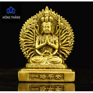 Tượng Phật Bà quan âm Nghìn Tay Nghìn Mắt hai mặt bằng đồng thau - 6514_46726775 thumbnail