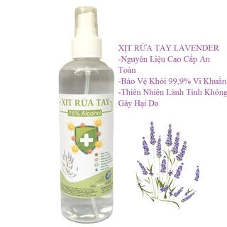 Chai 250ml Xịt Rửa Tay Lavender Kháng Khuẩn 99,9%, Dưỡng Ẩm Không Gây Khô Da - rửa tay lavender thumbnail