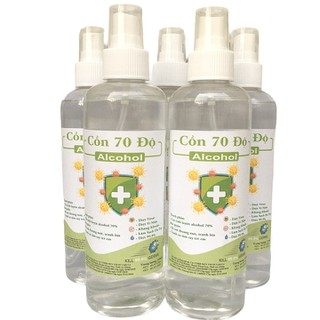 [Vòi xịt] Chai 250ml cồn y tế 70 độ dùng sát khuẩn, rửa tay - cồn 70 độ-250ml thumbnail