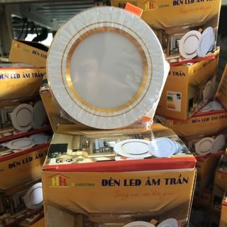 Đèn LED âm trần 7w 3 chế độ màu cao cấp đế tản nhiệt [COMBO 10 CÁI] - LEDAT7W10C thumbnail