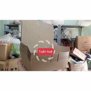 100 Hộp giấy kraft đựng thức ăn, hộp đựng cơm - aP789 thumbnail