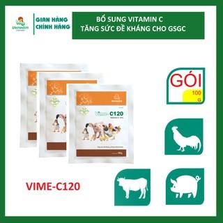 Vemedim Vime-C120 giúp tăng sức đề kháng, chống stress cho gia súc, gia cầm, set 3 gói 100g - TY0190 thumbnail