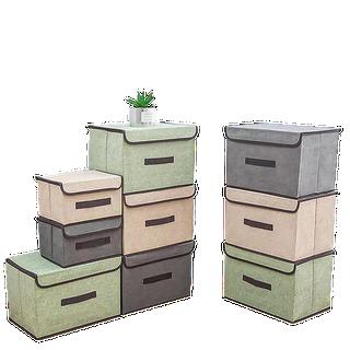 Combo 2 hộp đựng đồ chất liệu vải - Combo 2 hộp đựng đồ chất liệu vải thumbnail