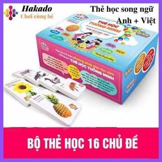 Bộ Thẻ Học Thông Minh 16 Chủ Đề 416 Thẻ Học Song Ngữ Anh-Việt Cho Bé - thẻ học thumbnail