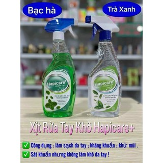 Dung dịch nước rửa tay kháng khuẩn Hapicare chai 500ml xịt khô nhanh - HAPICARE 500ML thumbnail