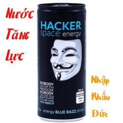 Nước Tăng Lực Hacker Space Energy Drink Blue Razz 250ml – Vị Việt Quất – Nhập Khẩu: Đức – Date: 05/2022