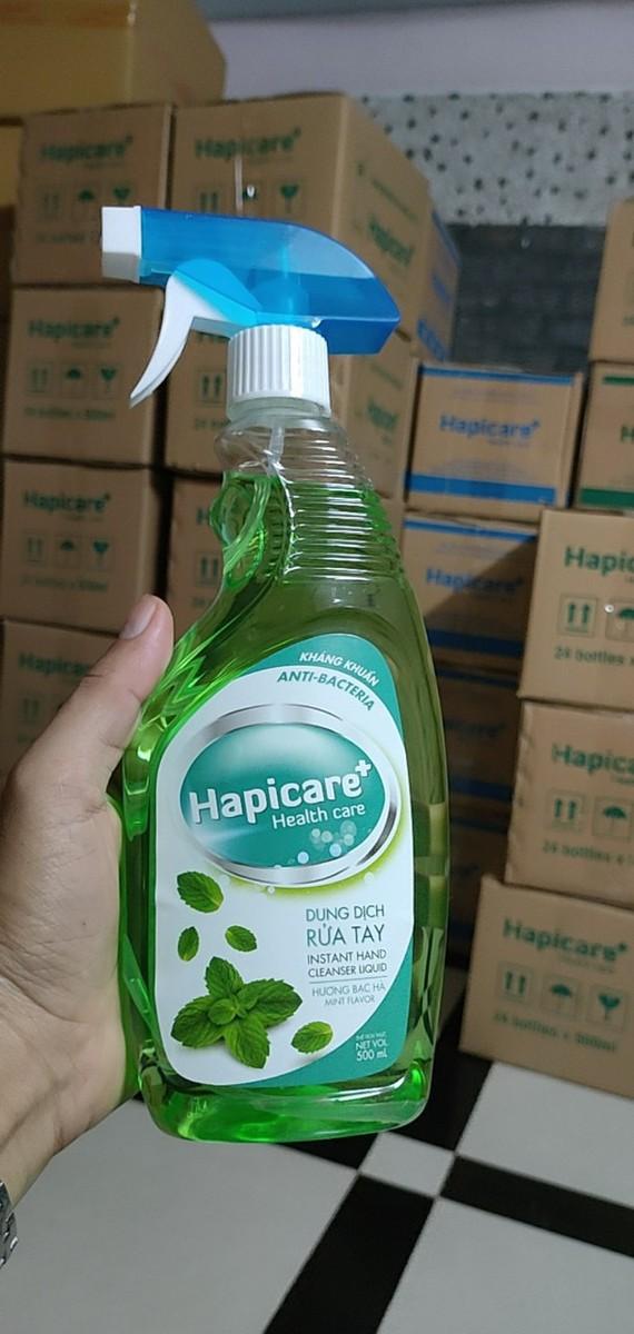 Dung dịch nước rửa tay kháng khuẩn Hapicare chai 500ml xịt khô nhanh - HAPICARE 500ML 2