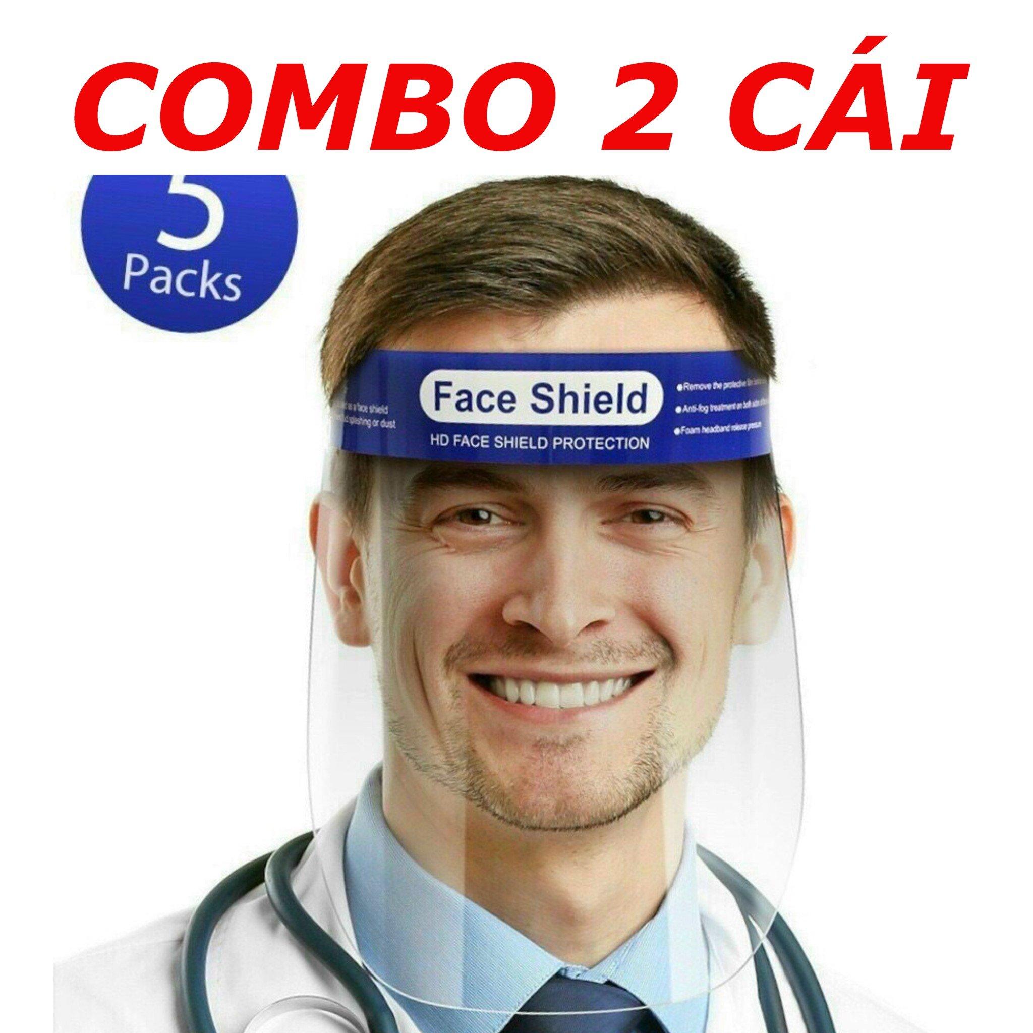 COMBO 2 CÁI - Tấm Chắn Giọt Bắn - Kính Che Mặt Phòng Dịch