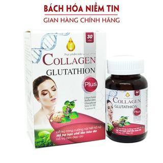 Viên uống đẹp da Collagen Glutathion Plus - Chống lão hóa, giảm nám sạm da, trắng da, tăng nội tiết tố nữ hiệu quả- H30v - glutathion thumbnail