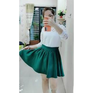 Váy xòe lưng thun xanh rêu dễ thương-Shop MỘC-Mã MV01 - MV01 thumbnail